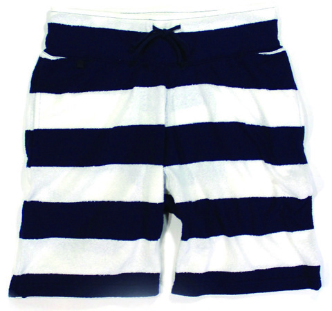 STRIPED PILE SHORTS