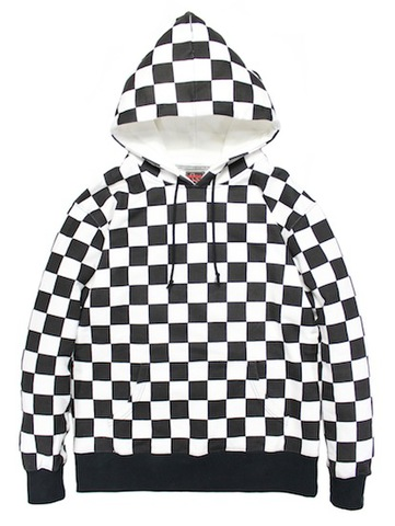 PULLOVER CHECKER HOODIE