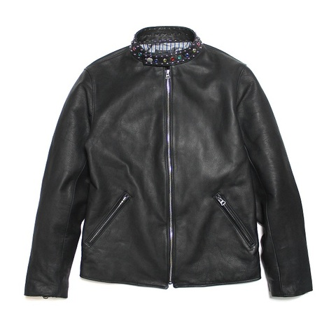 ALEX STUDDED SINGLE LEATHER JACKET