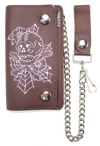 TATTOOED WALLET SKULL