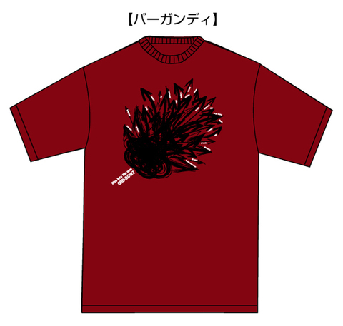 「Dive into the new」ツアーTシャツ【バーガンディ】
