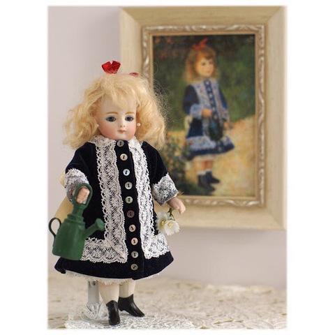 【キット】ルノワールのドレスを着たオールビスクミニョネット(18cm)