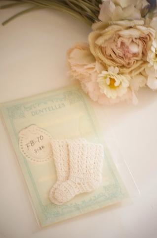 FB-10サイズ用かぎ針編み靴下(きなり)