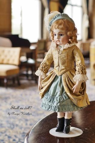 【型紙】ブリュのドレス(クラリッサ)の型紙 FB-16レザーボディサイズ