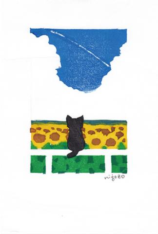 440postcard ひまわり畑