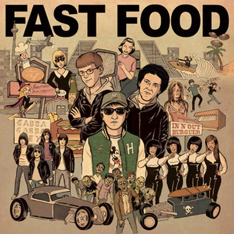 FAST FOOD-PARTY OF THREE