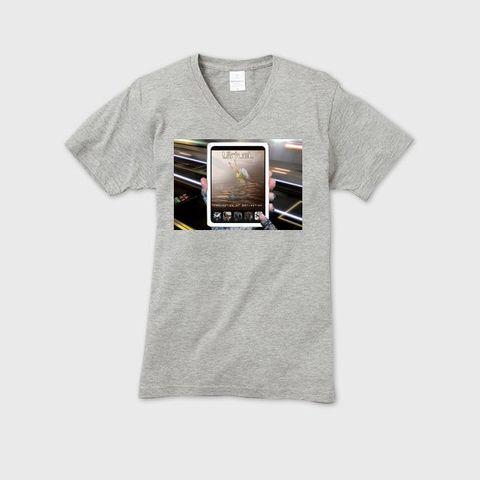 VirtueL - Conception of perception メンズVネックTシャツ ヘザーグレー
