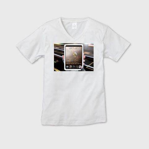 VirtueL - Conception of perception メンズVネックTシャツ ホワイト