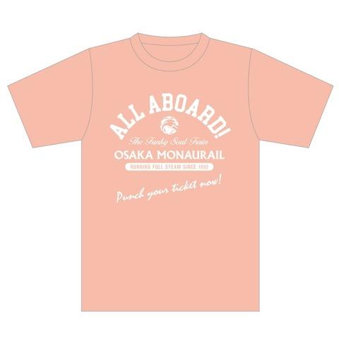 【Tシャツ】ALL ABOARD! Tシャツ(色:アプリコット)
