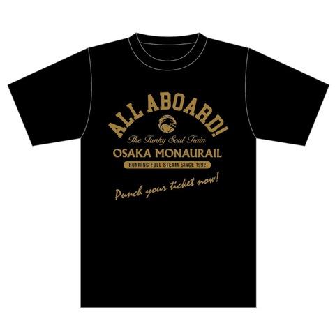 【Tシャツ】ALL ABOARD! Tシャツ(色:ブラック)