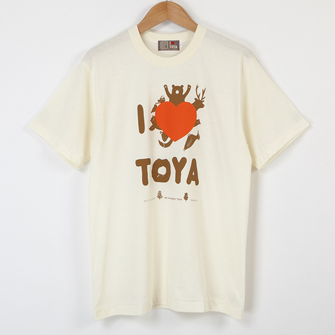 "I LOVE TOYA    JAPAN MADE T-SHIRTS ""LIGHT FIT"" [Snow lake/ivory]"