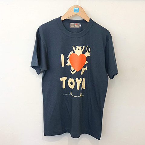 "I LOVE TOYA    JAPAN MADE T-SHIRTS ""LIGHT FIT"" [Midnight lake/navy]"