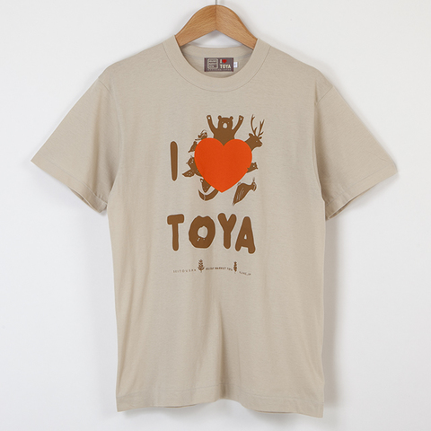 "【HOLIDAY MARKET TOYA×星燈社×KUME.JP】I LOVE TOYA    JAPAN MADE T-SHIRTS ""LIGHT FIT"" ストーン"