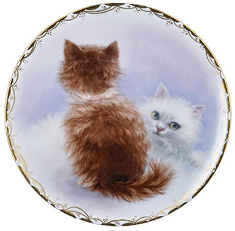 絵付テキストNo.55【兄弟の子猫たち】