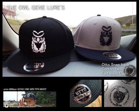 """受注生産品【otto snap back """"OWL"""" cap】メタリックステッカー付"""