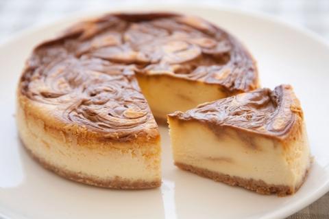 キャラメルマーブルチーズケーキ
