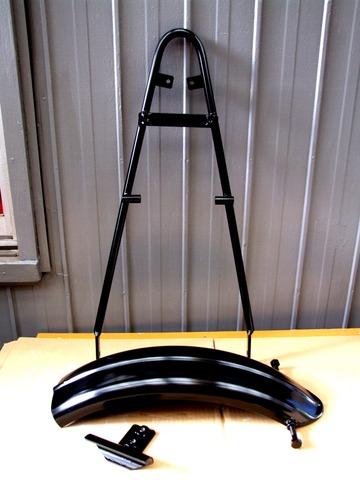フェンダー+シーシーバーKITの黒焼付塗装