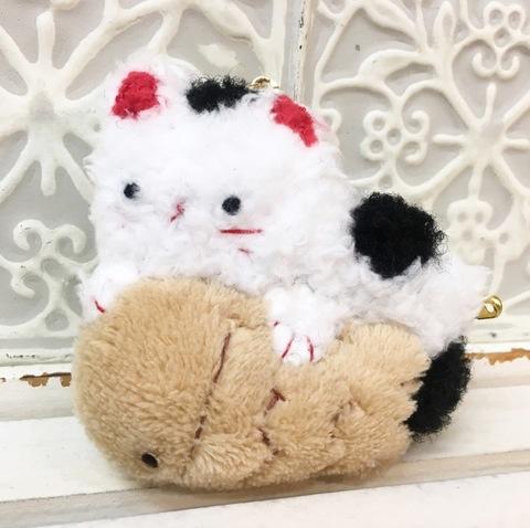 鯛焼き猫さんバッグチャーム