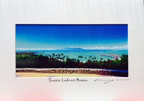栗山義勝 タヒチアンアートボード「Toatea Loookout Morea」