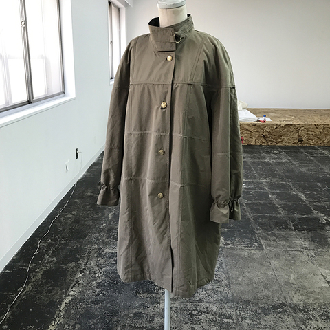 khaki lattice pattern coat