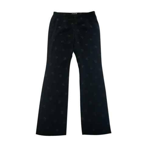 伊太利屋 monogram black pants