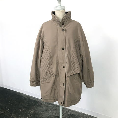 sea bream skin beige khaki coat