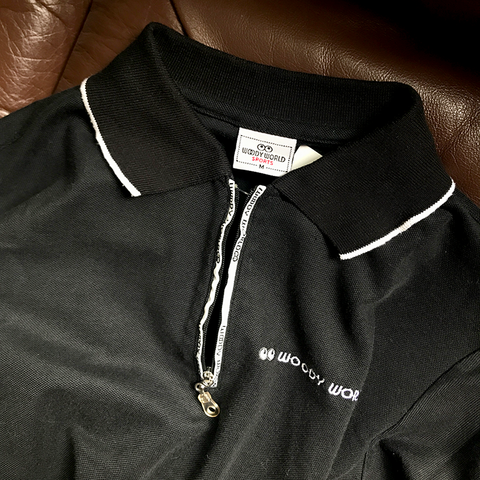 woody world sports polo shirt