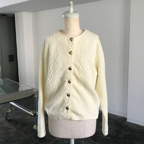 cream color cardigan