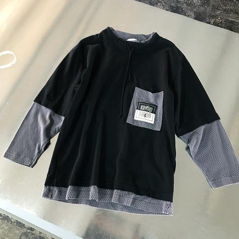ICHIRO mesh sleeve tops