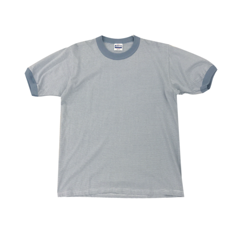 dusky blue grey border t-shirt