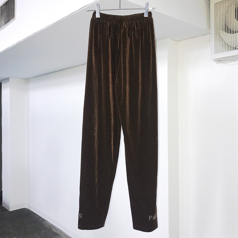 PARIS brown velour pants