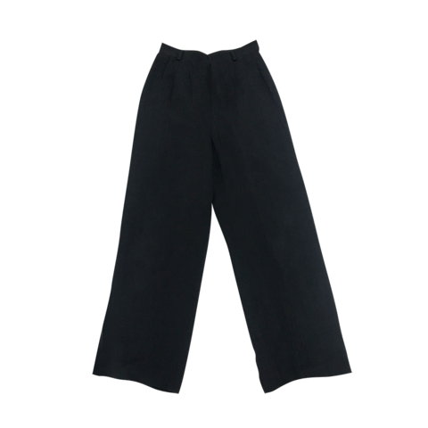 black linen tuck pants