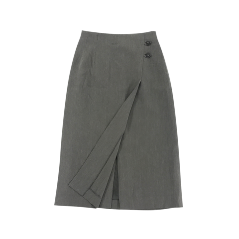 grey roll-round skirt