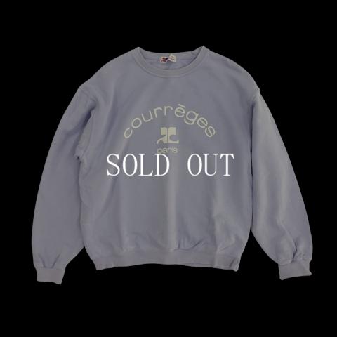 courrèges lilac sweatshirt