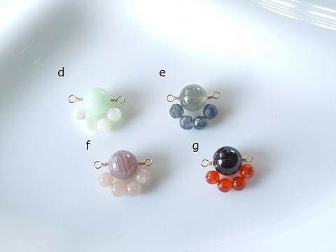 天然石(=^・^=)の肉球ネックレス(f)