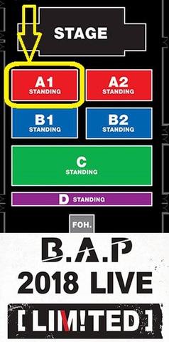 【アリーナスタンディングA1】B.A.P 2018 LIVE [LIMITED] IN BANGKOK