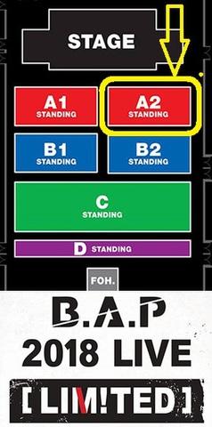 【アリーナスタンディングA2】B.A.P 2018 LIVE [LIMITED] IN BANGKOK