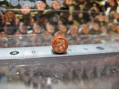 T 1.6A 円柱マイクロヒューズ 3個