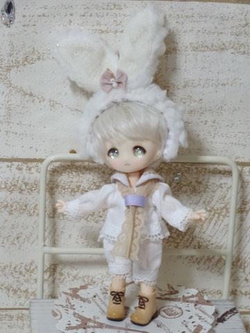 オビツ11サイズ☆雪うさぎのセーラーセット