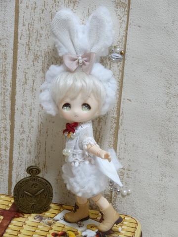オビツ11サイズ白うさぎコート セット