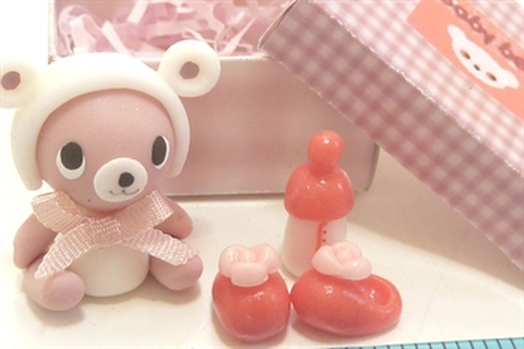 baby bear box ピンクリボン