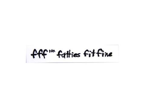 """SURLY """"FATTIES FIT FINE DECAL"""""""