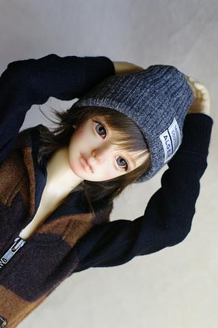 SDニット帽 / 杢グレー