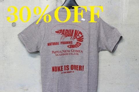 【30%引】海老ロゴ&NUKE IS OVER Tシャツ
