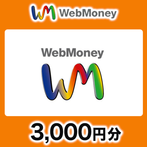 WebMoneyコード(コード送付) 3,000円分