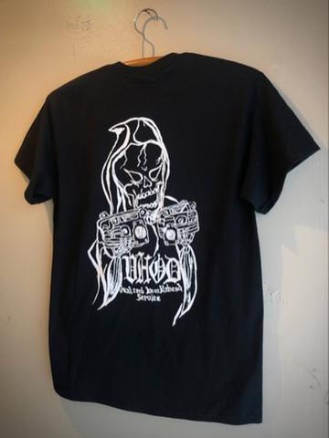 VHOD DUAL CARB KNUCKLEHEAD SERVICE - S/S T-shirt (BLACK)