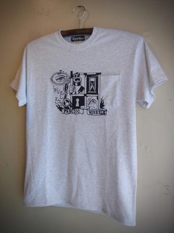 LOVELESS - S/S T-shirt (ASH/black print)