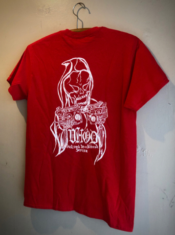 VHOD DUAL CARB KNUCKLEHEAD SERVICE - S/S T-shirt (RED)
