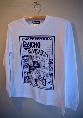 CHOPPERTOON - L/S T-shirt (WHITE)