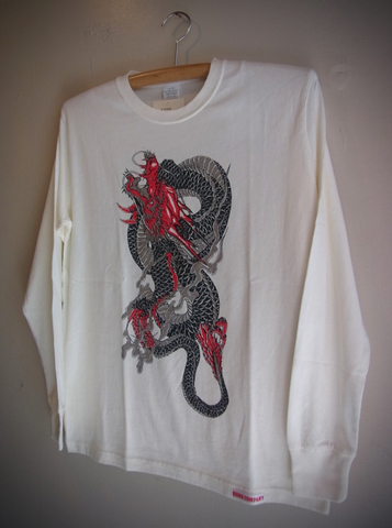 DRAGON - L/S T-shirt (White)